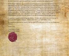 Ecumenical Council IV Annoucement